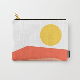 Abstract Landscape 09 Red Carry-All Pouch