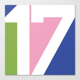 17 Canvas Print