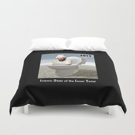 Islamic State of the Inner Toilet Duvet Cover