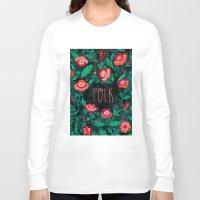 folk Long Sleeve T-shirts featuring Folk by Plantus Marina