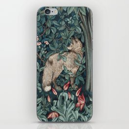 William Morris Forest Fox Tapestry iPhone Skin