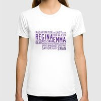 ouat T-shirts featuring Swan Queen Nicknames - Purple (OUAT) by CLM Design