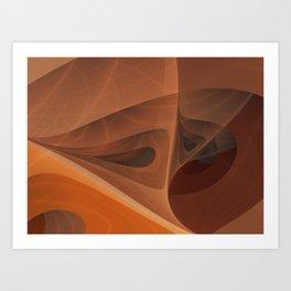 Golden Cobwebs Art Print