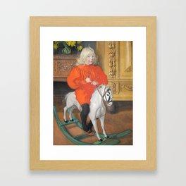 Boy on a Rocking Horse by Carl Larsson Framed Art Print