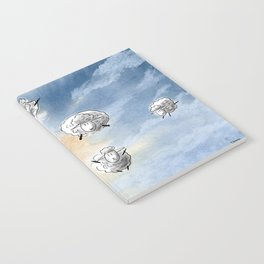 Digital Sheep in a Watercolor Sky Notebook