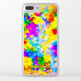 Floral Feast I Clear iPhone Case