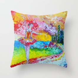 The pursuit of her dream remix Throw Pillow