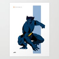 beast Art Prints featuring Beast by Andrew Formosa