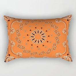 Orange oriental design Rectangular Pillow