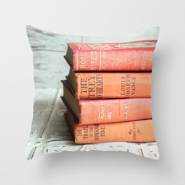 antique reds Throw Pillow