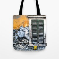 window Tote Bags featuring window by Alfredo Rodriguez