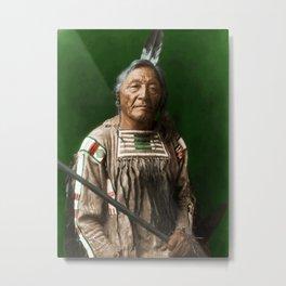 Sitting Elk - Crow Indian Metal Print