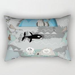 Arctic animals grey Rectangular Pillow