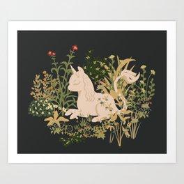The Cutest Unicorn Art Print
