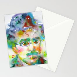 FERNANDO PESSOA - watercolor portrait Stationery Cards