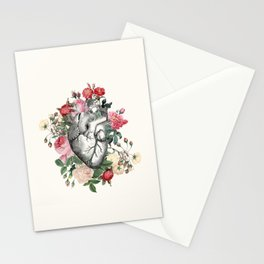 Roses for her Heart Stationery Cards