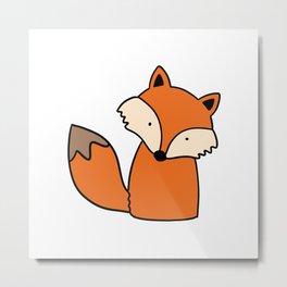 Simple hand drawn fox Metal Print