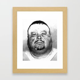 David Martinez mugshot Framed Art Print