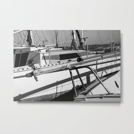 On the harbor, Le Touquet Metal Print