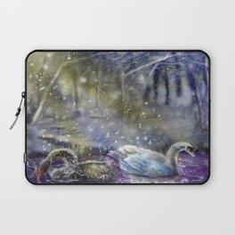 Yuletide Swan Laptop Sleeve