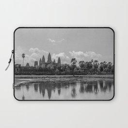 Angkor Wat, Cambodia, Black & White Laptop Sleeve