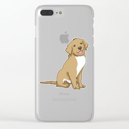 Golden Retriever Puppy Hound Gift Clear iPhone Case