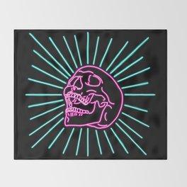 Pink Laughing Skull Throw Blanket