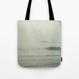 Morning Fog at Wrightsville Beach Jetty Tote Bag