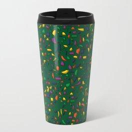 Terrazzo green background Travel Mug
