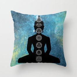 Sacred Geometry - Chakras Aligned Throw Pillow