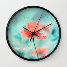 Fantasy Garden - Poppy Dream  Wall Clock