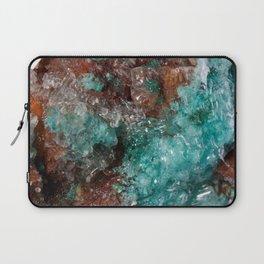 Dark Rust & Teal Quartz Laptop Sleeve