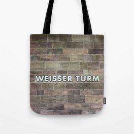 Nuremberg U-Bahn Memories - Weisser Turm Tote Bag