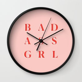 Badass GRL Wall Clock