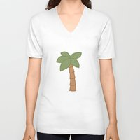 palm tree V-neck T-shirts featuring Palm Tree by George Hatzis