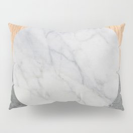 Abstract - Marble and Wood Pillow Sham
