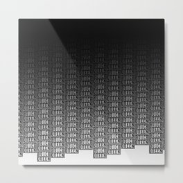 BQ - Logo Pattern Dip Metal Print