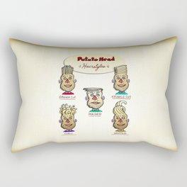 Popular Potato Head Hairstyles Rectangular Pillow