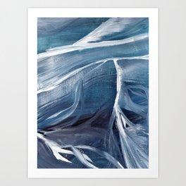 Layers of ice Art Print