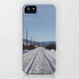 Carol M. Highsmith - Snow Covered Railroad Tracks iPhone Case