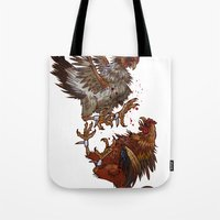 fight Tote Bags featuring FIGHT! by Josh Hoye
