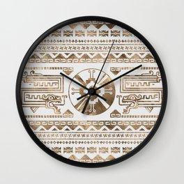 Hunab Ku Pastel gold Wall Clock