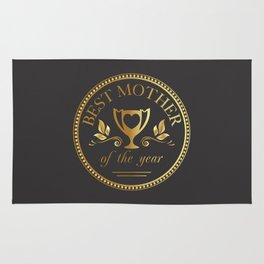Mother's day golden trophy Rug