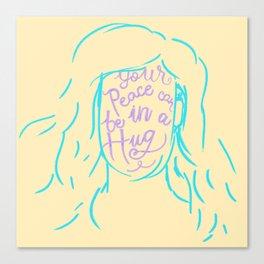 Peace in a Hug Canvas Print
