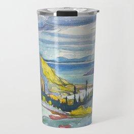 Canadian Landscape Watercolor Painting Franklin Carmichael Art Nouveau Travel Mug