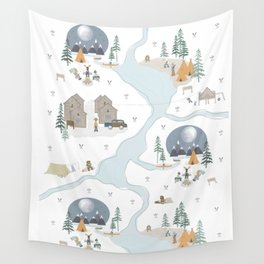 Camp Sleepy Moon Wall Tapestry