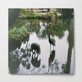 (the metal cranes) Metal Print