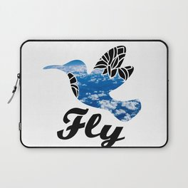 Flying Bird with Clouds Laptop Sleeve