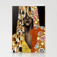 klimt Stationery Cards featuring Klimt Me by Estúdio Marte
