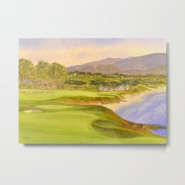 Pebble Beach Golf Course Holes 9 and 10 Metal Print